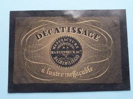 Décatissage Manufacture De RAHLENBECK & Cie à DALHEM (Liège) à Lustre Ineffaçable ( Form. +/- 9 X 6,5 Cm. ) - Cartes De Visite