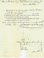 1814 LETTRE DE VOITURE EXPEDITION Benoit La Roche à  Basle Bâle Pour Maison Montenach à Frybourg Fribourg VOIR SCANS - Allemagne