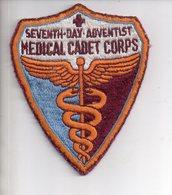 REF 10 : Écusson Patch Thème Medecine Seventh Day Adventist USA Medical Cadet Corps Caducée - Matériel Médical & Dentaire