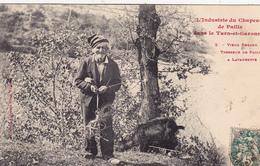 CPA Animée (82) LAVAURETTE Vieux Berger Tresseur De Paille Type Métier (2 Scans) - Montauban