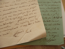 2 LAS Autographe Général Phillipe Paul Ségur  Historien 1780/1873 Affaires Personnelles Et écrits - Autógrafos