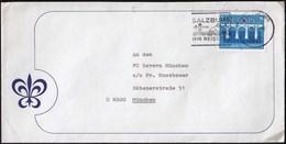 Austria Salzburg 1984 / Ihr Reiseziel, Tourism, Airplane, Bus / Machine Stamp / Europa CEPT - Bridges - Vacaciones & Turismo
