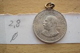 MEDAL FRANZ JOSEF I AUSTRIA MEDAGLIA VIRIBUS UNITIS 1848 1908  DIAMETRO CM. 2,8 GRAFFI - Militari