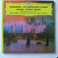 LP/ Seiji Ozawa, Corky Siegel - Gershwin - Un Americain à Paris. Russo - Street Music - Classique