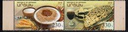 NAGORNO KARABAKH, REPUBLIC OF ARTSAKH , 2018, MNH, NATIONAL CUISINE, FOOD, WINE, 2v - Food