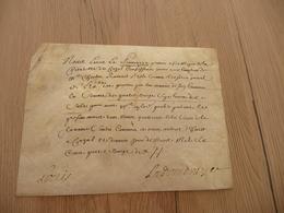 Pièce Signée Resto/verso Sur Velin La Poinevaye Aide Major Citadelle De Cazal Reçu 1692 Affaires Militaires - Autógrafos