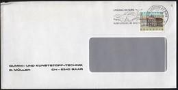 Switzerland Langau Am Albis 1990 / Wild Park, Tourism, Church / Machine Stamp / Europa CEPT - Post Offices - Vacaciones & Turismo