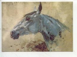 """Henri De Toulouse Lautrec : Cheval Blanc """"Gazelle"""" 1881 (cp Vierge) - Paintings"""