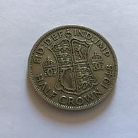 GRAN BRETAGNA  - ENGLAND - 1948 - 1/2 Half CROWN  Giorgio VI - 1971-… : Monete Decimali