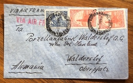ARGENTINA ENVELOPE  PAR AVION  VIA  AIR FRANCE  FROM BUENOS AIRES TO WALDERSHOF ALEMAGNA  THE 14/6/37 - Buenos Aires (1858-1864)