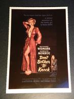 19889) MARILYN MONROE DON'T BOTHER TO KNOCK PUBBLICITA' LA TUA BOCCA BRUCIA - Donne Celebri