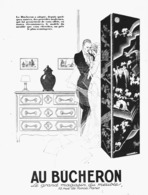 """PUB MEUBLES ( ART-DECO )  """" AU BUCHERON """" Par René VINCENT  1925 ( 2 ) - Meubles"""