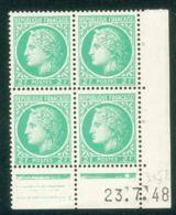 Lot 4869 France Coin Daté N°680 Cérès De Mazelin  (**) - Dated Corners