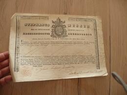Religion Formule Signée Stephanus Misir 1846 Avec Sceau Dans Le Papier Et Vignette Aux Armes - Religión & Esoterismo