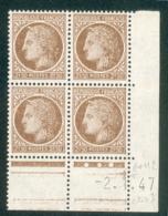 Lot 4910 France Coin Daté N°681 Cérès De Mazelin  (**) - Dated Corners