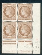 Lot 4911 France Coin Daté N°681 Cérès De Mazelin  (**) - Dated Corners