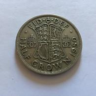 GRAN BRETAGNA  - ENGLAND - 1950 - 1/2 Half CROWN  Giorgio VI - 1971-… : Monete Decimali