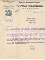 44 Nantes Bel Abord - Conserverie Victor Tertrais. Lettre Illustrée De 1913. Tb état. - France