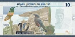 Bolivia P.new 10 Bolivianos  2018 Unc - Bolivie