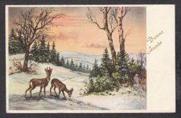 97050/ NOUVEL AN, Chevreuils, Paysage - New Year