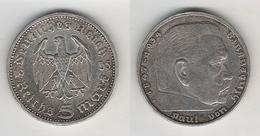 5 Reichsmark 1935 E - [ 4] 1933-1945 : Third Reich