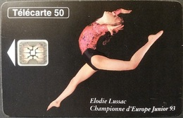 Telefonkarte Frankreich - Sport  - Elodie Lussac - 09/93 - 50 Units - 1993