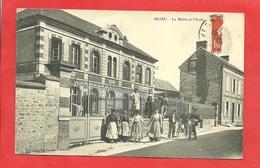 CPA Blaru (27)  La Mairie Et L'école  Belle Animation - Andere Gemeenten