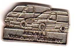 Pin's  Renault Véhicule Utilitaires  Tout Argent   Zamac - Renault