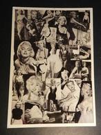 19889) MARILYN MONROE COLLAGE CARTOLINA GRANDE PUBBLICITARIA FILM - Donne Celebri