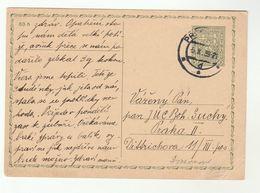 1939 CZECHOSLOVAKIA Postal STATIONERY Card Prague Cover Stamps - Czechoslovakia