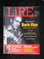 Lire N°374, Avril 2009: 50 Ans Après Boris Vian, Même Pas Mort! - Bücher, Zeitschriften, Comics