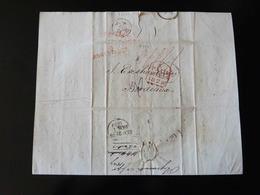 BELLE LETTRE - DOCUMENT  DE PLYMOUTH  POUR BORDEAUX -  1829  - - 1801-1848: Precursori XIX