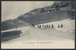 """7sh.""""Jungfraubahn. Eigergletscher"""".Postamt 1908 Jahr. Stempelstation. Bahnpost.Schweiz. - Switzerland"""