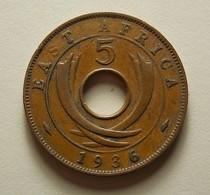 East Africa 5 Cents 1936 KN - Britse Kolonie