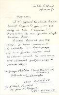 Lettre De Franz Hellens, 1971 - Autographs