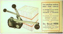 BUVARD ANCIEN-APPAREIL A CERCLER-Ets GERARD-MARCHIENNE AU PONT-BELGIQUE-2-1949 - Transport