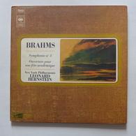 LP/  Bernstein, Brahms - Symphonie N°3. Ouverture Pour Fête Une Académique - Classique