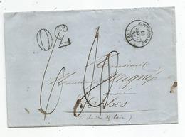 - LOIR Et CHER - MONTRICHARD - Triple Taxe - Càd Type 15 - 1858 - France