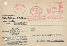 BISON - E.M.A Allemand 28 Mi 1941 Sur Carte Commerciale - Otros
