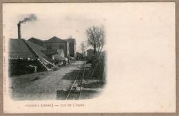 36 / VERNEUIL (Indre) - Vue De L'usine, Rail, Cheminée - France