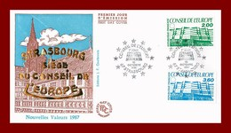 Enveloppe 1er Jour *  Strasbourg Siége De L'europe * 10 Octobre 1987 - Stamps