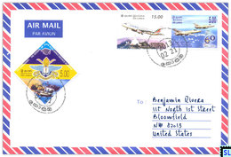 Sri Lanka Stamps, Aviation, Planes, Personalized Cover - Sri Lanka (Ceylon) (1948-...)