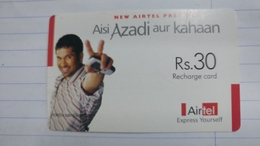 India-airtel Aisi Azadi Aur Kahaan-(55)(rs.30)(new Delhi)-(6497543115939281)(look Out Side)used Card+1 Card Prepiad Free - India