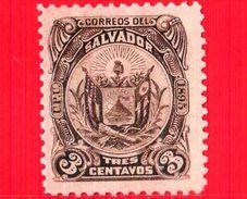 Nuovo - EL SALVADOR - 1895 - Stemmi Araldici - Coat Of Arms - 3 - El Salvador