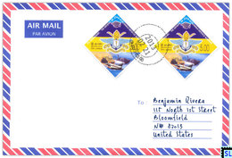 Sri Lanka Stamps, Aviation, Planes, Air Force, Aviation, Military, Personalized Cover - Sri Lanka (Ceylon) (1948-...)