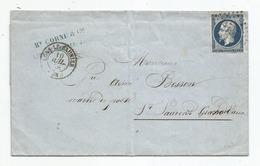 - JURA - LONS Le SAUNIER PC.1760 S/TPND N°14Ab Bleu-noir - Càd T.15 - 1856 - France