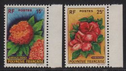 Polynesie - N°15 + N°16 - ** Neufs Sans Charniere - Fleurs - Cote 45€ - French Polynesia