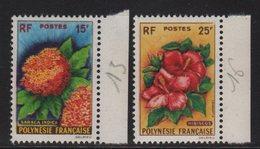 Polynesie - N°15 + N°16 - ** Neufs Sans Charniere - Fleurs - Cote 45€ - Neufs