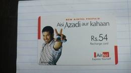 India-airtel Aisi Azadi Aur Kahaan-(56a)(rs.54)(new Delhi)(8244355795824620)(look Out Side)used Card+1 Card Prepiad Free - Inde