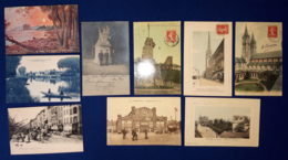 Francia 9 Various Postal Cards VF/F - Francia